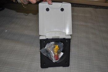 Buitenaansluiting gas (met magneet)