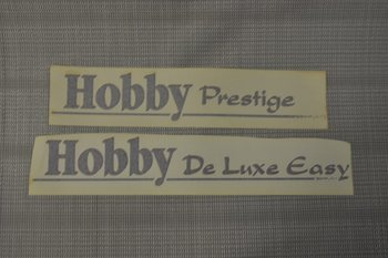 Hobby sticker met streep