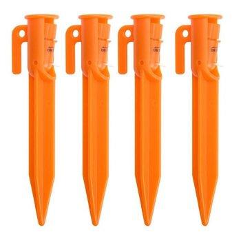 Tentharing met verlichting oranje 4 stuks