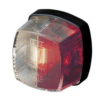Breedtelicht rood-wit hella 61x61mm