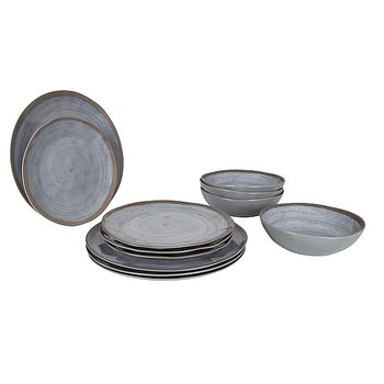 Bo-Camp - Servies - 100% Melamine - 12-delig - Halo