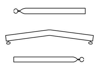 Daksteun gebogen 22/19 mm.170-250cm staal