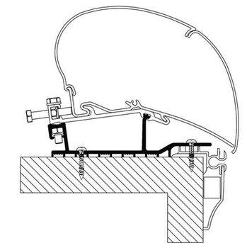 Adapter 2014 thule Omnistor Hobby caravan roof
