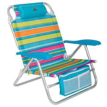 Santa Cruz strandstoel blauw gestreept