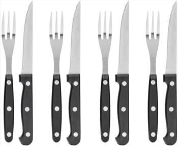 BBQ-bestek 4 vorken / 4 messen