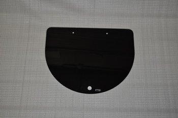 Glasplaat zwart voor kookplaat of wasbak