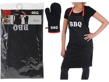 Barbecue schort en barbecue handschoen