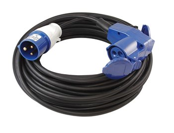 Elektra CEE verlengkabel haaks met stopcontact 20m