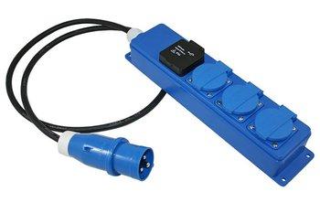 Quatro unit 1,5 meter 3x schuko kontactdoos + USB 2.1A