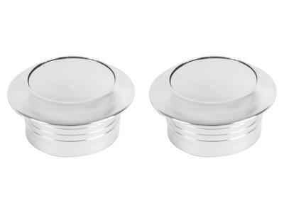 Push-lock knoppen nikkel gepolijst set van 2
