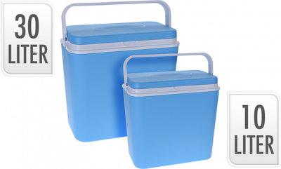 Koelbox - 30 l + 10 l - Kunststof - Blauw - 2 stuks