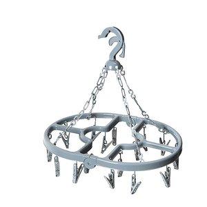 Bo-Camp - Droogcarrousel - Opvouwbaar - 16 Knijpers - Grijs